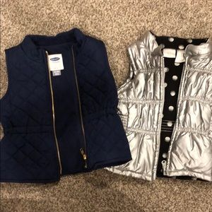 2 - 18 month girl puffer vests